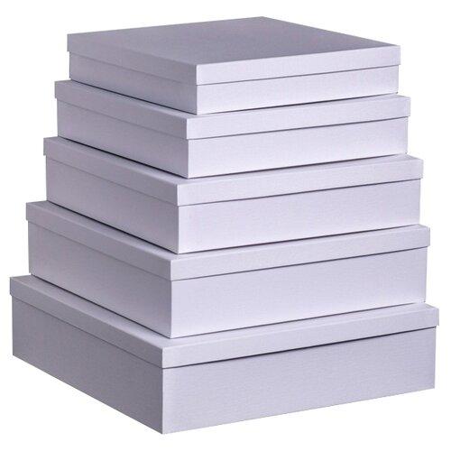 Набор подарочных коробок Мишель Фокс Штукатурка №14, 5 шт. белый