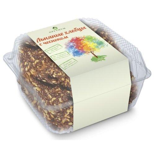 Хлебцы льняные Оргтиум с чесноком 85 г