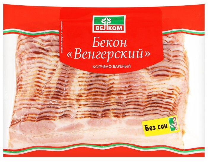 Бекон Венгерский Велком копчено-вареный 500 гр