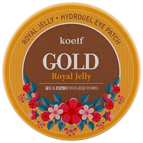 Koelf Гидрогелевые патчи для век с частицами коллоидного золота и маточным молочком Hydro Gel Gold & Royal Jelly Eye Patch (60 шт.) патчи под глаза роза 60 шт koelf