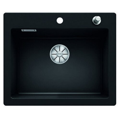 Врезная кухонная мойка 61.5 см Blanco Palona 6 Ceramic PuraPlus 524738 черный кухонная мойка blanco axon ii 6 s керамика чаша справа черный puraplus с клапаном автоматом