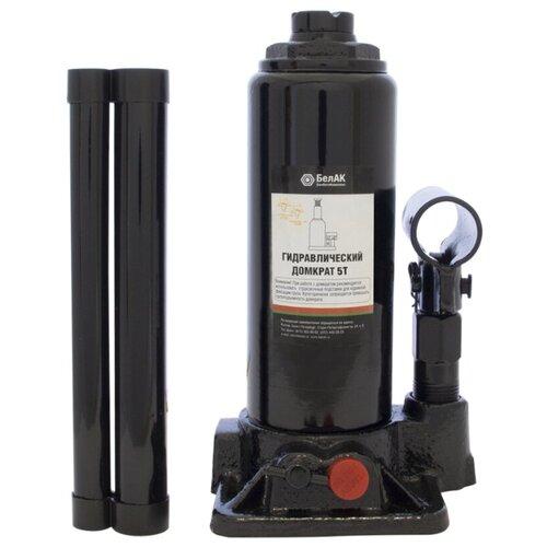 Домкрат бутылочный гидравлический БелАвтоКомплект БАК.00029 (5 т) черный
