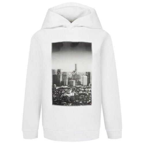 Худи EMPORIO ARMANI размер 140, белый футболка emporio armani размер 140 белый