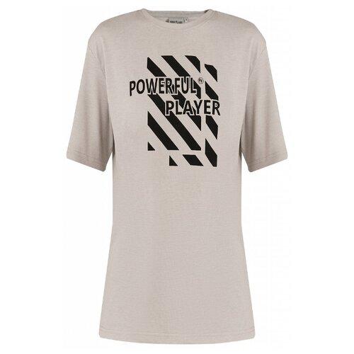Футболка FiNN FLARE B20-13015M размер S, светло-серый меланж футболка finn flare b20 32068m размер 2xl серый меланж