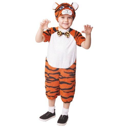 Костюм пуговка Тигрёнок Тимка (943 к-19), оранжевый/черный/белый, размер 104, Карнавальные костюмы  - купить со скидкой