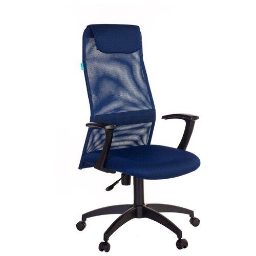 Компьютерное кресло Бюрократ KB-8N для руководителя, обивка: текстиль, цвет: синий