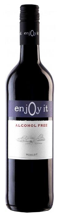 Вино красное сухое Enjoy It Merlot безалкогольное 0,75 л