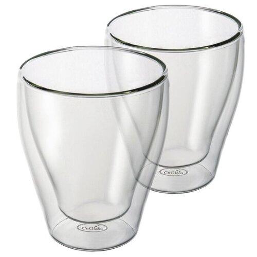 набор кофейный cnglass чайная пара канопус 110 мл 4 шт комплект tz07002 стекло CnGlass Набор стаканов 260 мл 2 шт прозрачный