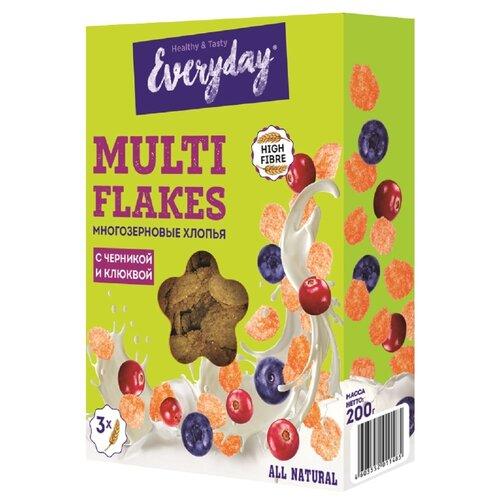 Фото - Готовый завтрак Everyday Мультизерновые хлопья с черникой и клюквой, коробка, 200 г хлебные колечки tsanos мультизерновые 70 г