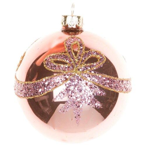 Набор шаров KARLSBACH 06897, розовый, 6 шт.