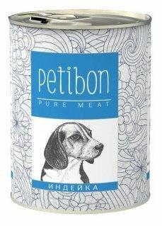 Корм для собак Petibon 100% meat Индейка для собак (0.34 кг) 1 шт.