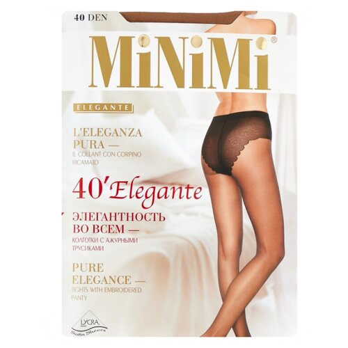 Колготки MiNiMi Elegante 40 den, размер 4-L, daino (бежевый) колготки minimi avanti 40 den размер 4 l daino бежевый