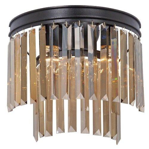Настенный светильник Vitaluce V5156-1/3A, E14, 180 Вт, кол-во ламп: 3 шт., цвет арматуры: черный настенный светильник vitaluce v1115 3a 180 вт
