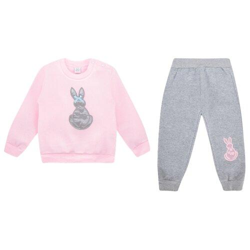 Купить Комплект одежды Fun time размер 92, розовый/серый, Комплекты