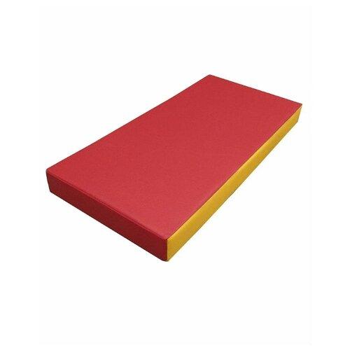 Спортивный мат 1000х500х100 мм КМС № 1 красно/жёлтый