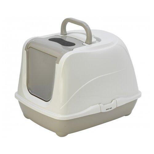 Туалет-домик для кошек Moderna Flip Cat Jumbo 57.6х43.9х41 см теплый серый