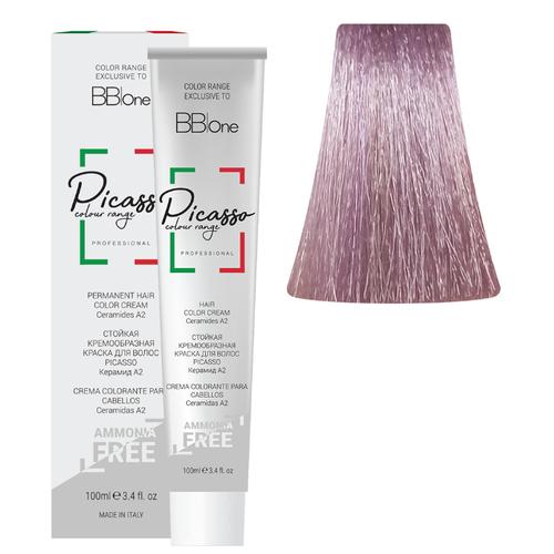 BB One Picasso Colour Range Перманентная крем-краска без аммиака, 100 мл, 10.26 очень светлый блонд жемчужно-фиолетовый bb one picasso colour range перманентная крем краска без аммиака 100 мл 10 16 очень светлый блонд розовый жемчуг