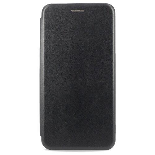 Кожаный чехол для Xiaomi Redmi 8 / Чехол Книжка на Сяоми Редми 8 с кармашком для карт (Черный)