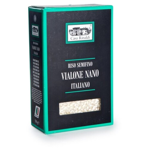 Рис Casa Rinaldi Vialone nano среднезерный, 500 г рис casa rinaldi карнароли длиннозёрный полуобрушенный 500 г
