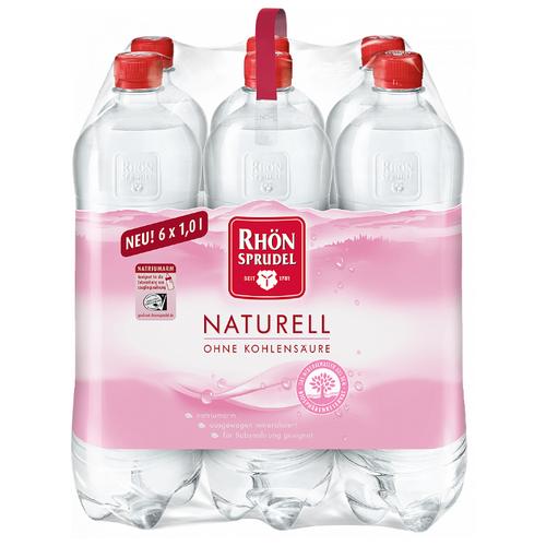 Вода минеральная Rhon SPRUDEL Naturell столовая негазированная, 6 шт. по 1 л