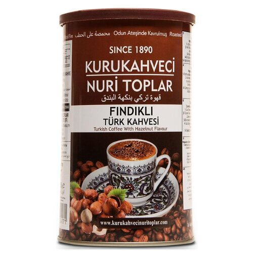 Кофе молотый Kurukahveci Nuri Toplar Findikli, жестяная банка, 250 г to4rooms комод nuri