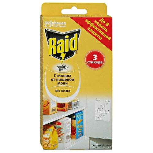 Стикеры Raid от пищевой моли 40 г (3 шт.) белый