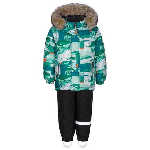 Купить Комплект с полукомбинезоном KISU размер 92, зеленый, Комплекты верхней одежды