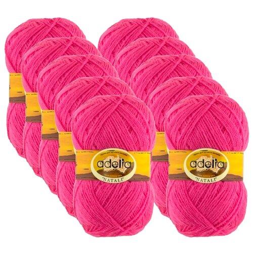 Купить Пряжа Adelia Natali, 100 % акрил, 50 г, 300 м, 10 шт., №26 яр.розовый