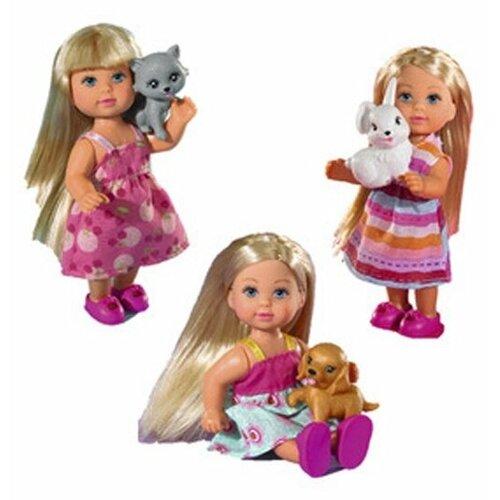 Кукла Simba Еви со зверюшкой, 12 см, 5730513029