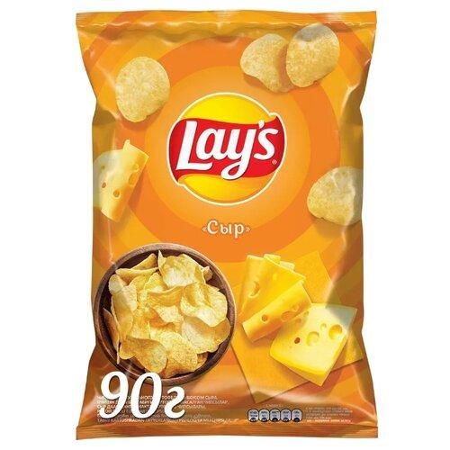 Чипсы Lay's картофельные Сыр, 90 г морские чипсы из ламинарии со свеклой и базиликом здоровцов 90 г