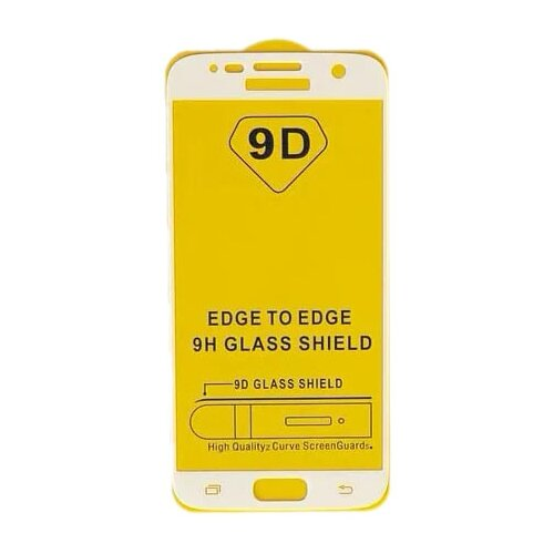 Защитное стекло LuazON 9D для Samsung Galaxy S7 прозрачный/белый