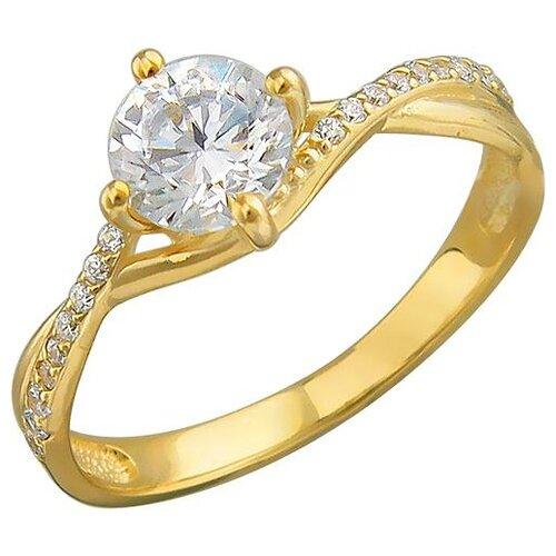 Эстет Кольцо с 19 фианитами из жёлтого золота 01К138527, размер 18.5