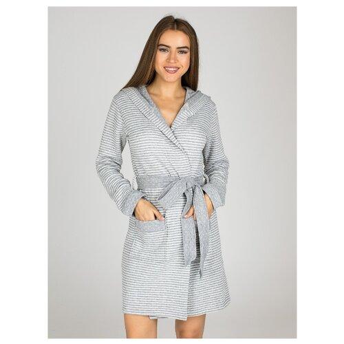 цена на Халат Monamise размер XL серый меланж/кремовый