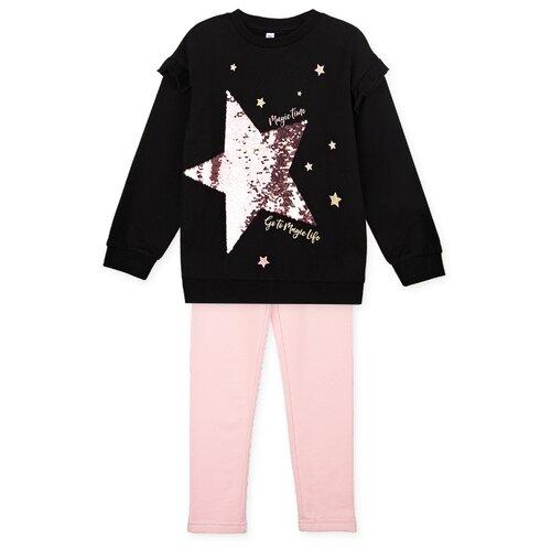 Купить Комплект одежды playToday размер 122, черный/розовый, Комплекты и форма