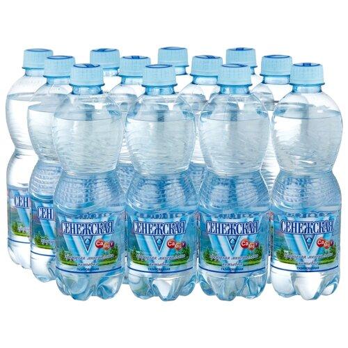 Вода минеральная Сенежская газированная, ПЭТ, 12 шт. по 0.5 л