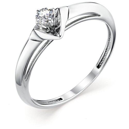 АЛЬКОР Кольцо с 1 бриллиантом из белого золота 12845-200, размер 17 алькор кольцо с 1 бриллиантом из белого золота 12869 200 размер 17 5