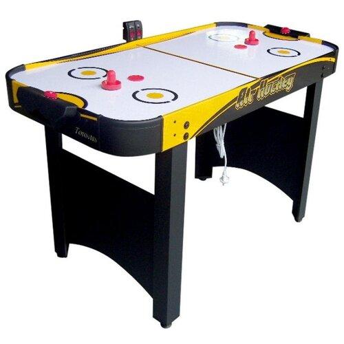 Фото - Игровой стол для аэрохоккея DFC Toronto AT-145 белый/черный/желтый игровой стол для аэрохоккея dfc baltimor ds at 09 красный черный