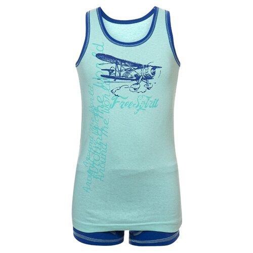 Купить Комплект нижнего белья M&D размер 116, бирюзовый/синий, Белье и пляжная мода
