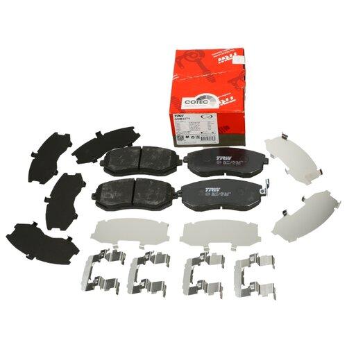 Дисковые тормозные колодки передние TRW GDB3371 для Subaru Forester, Subaru Impreza, Subaru Legacy, Subaru Outback (4 шт.) фото