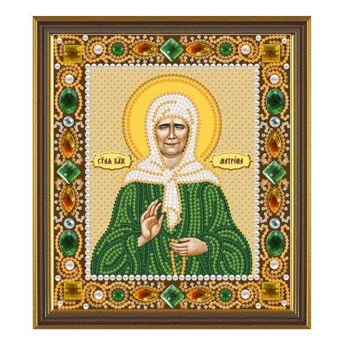 Купить NOVA SLOBODА Набор для вышивания бисером иконы Св. Блаженная Матрона Московская 13 х 15 см (Д6019), Наборы для вышивания