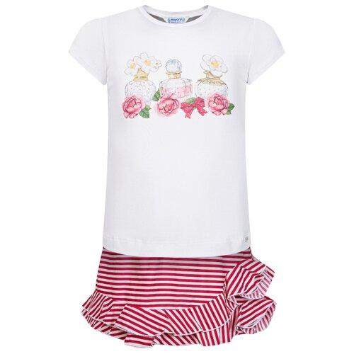 Комплект одежды Mayoral размер 116, белый/красный