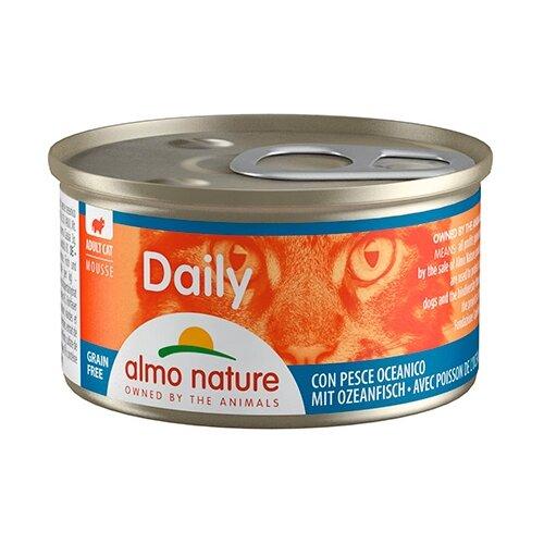 Фото - Корм для кошек Almo Nature Daily Menu с океанической рыбой 85 г консервы для кошек almo nature нежный мусс с уткой 85 г