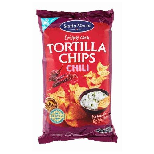 Чипсы Santa Maria кукурузные Tortilla Chips Chili, 185 г