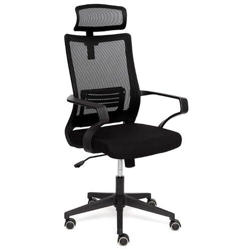Компьютерное кресло TetChair Mesh-4HR для руководителя, обивка: текстиль, цвет: черный компьютерное кресло tetchair барон обивка искусственная кожа цвет бежевый