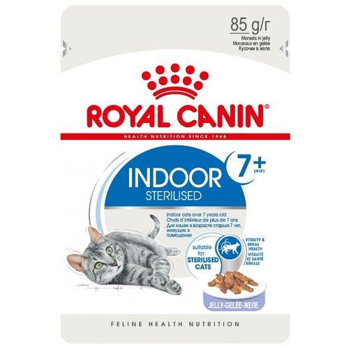 Корм для стерилизованных пожилых кошек Royal Canin для живущих в помещении 85 г (кусочки в желе)