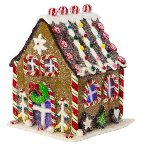 Фигурка Forest Market Рождественский домик с подсветкой 16 см коричневый по цене 2 289