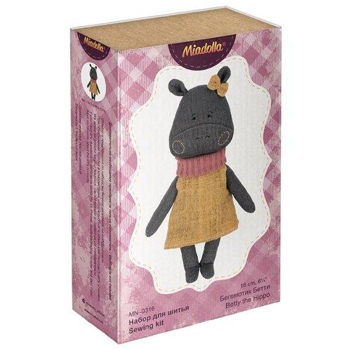 Купить Miadolla Набор для изготовления игрушки Бегемотик Бетти , 16 см, Изготовление кукол и игрушек