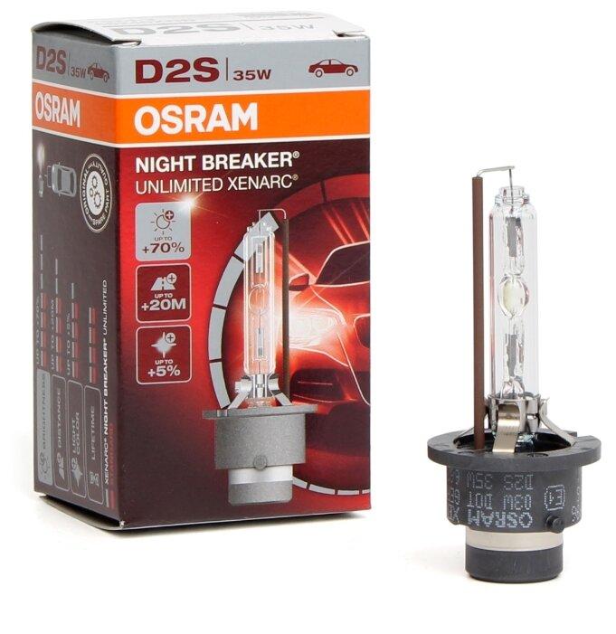 Лампа автомобильная ксеноновая Osram XENARC NIGHT BREAKER UNLIMITED D2S 66240XNB 35W 1 шт.