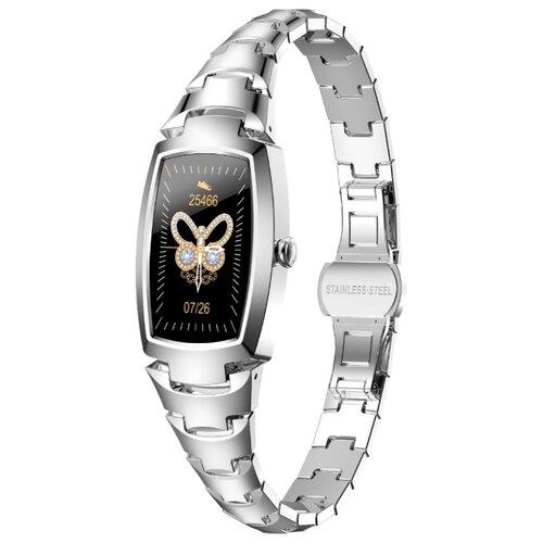 Смарт часы женские Lemfo H8 PRO (серебристый)