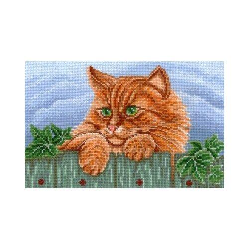 Купить Сделай своими руками Набор для вышивания Рыжий кот 25 х 16 см (Р-08), Наборы для вышивания